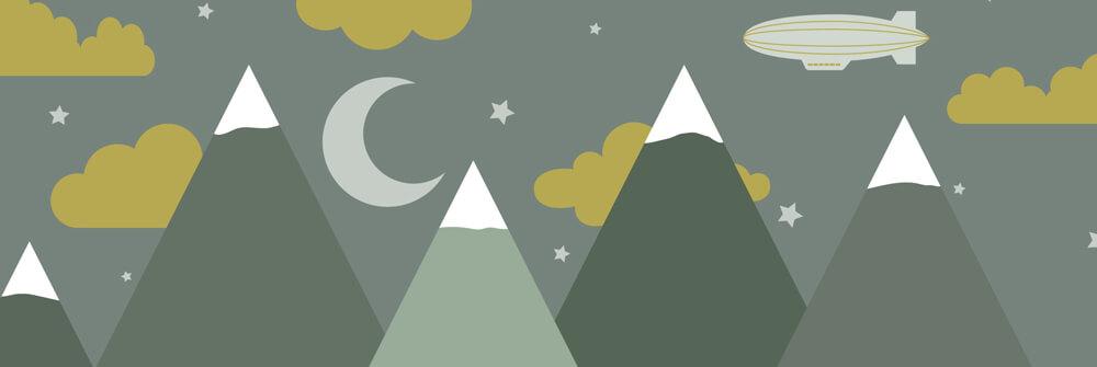 Papier peint enfant avec montagnes