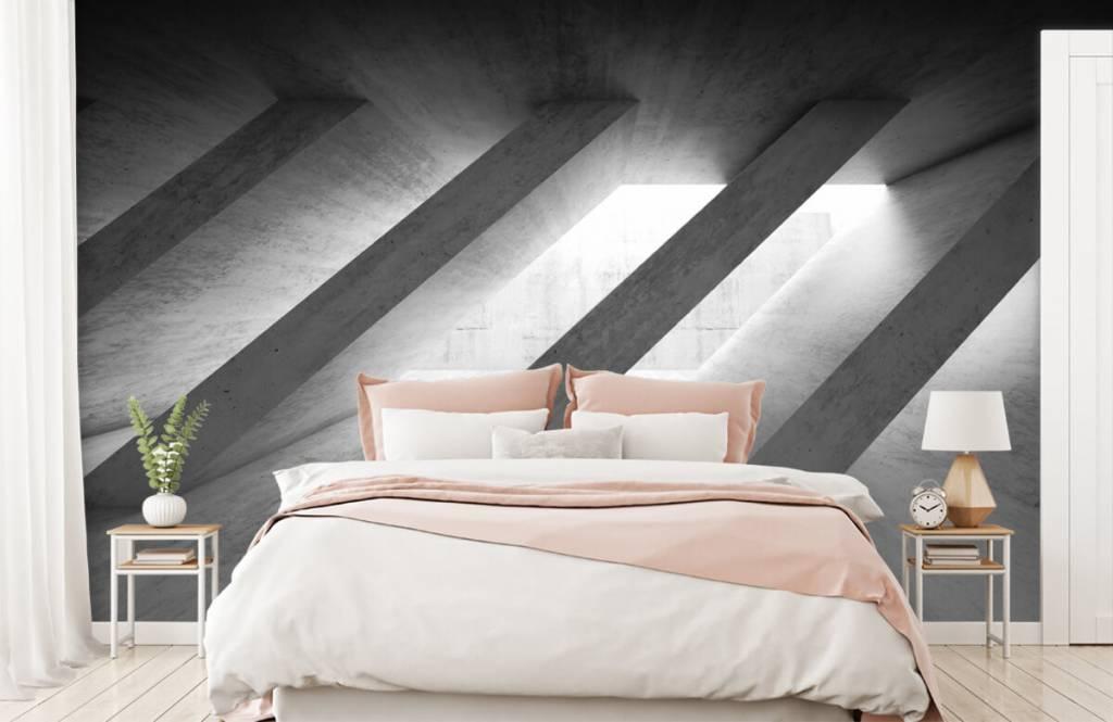Other Textures & Surfaces - Piliers en béton en 3D - Chambre à coucher 2