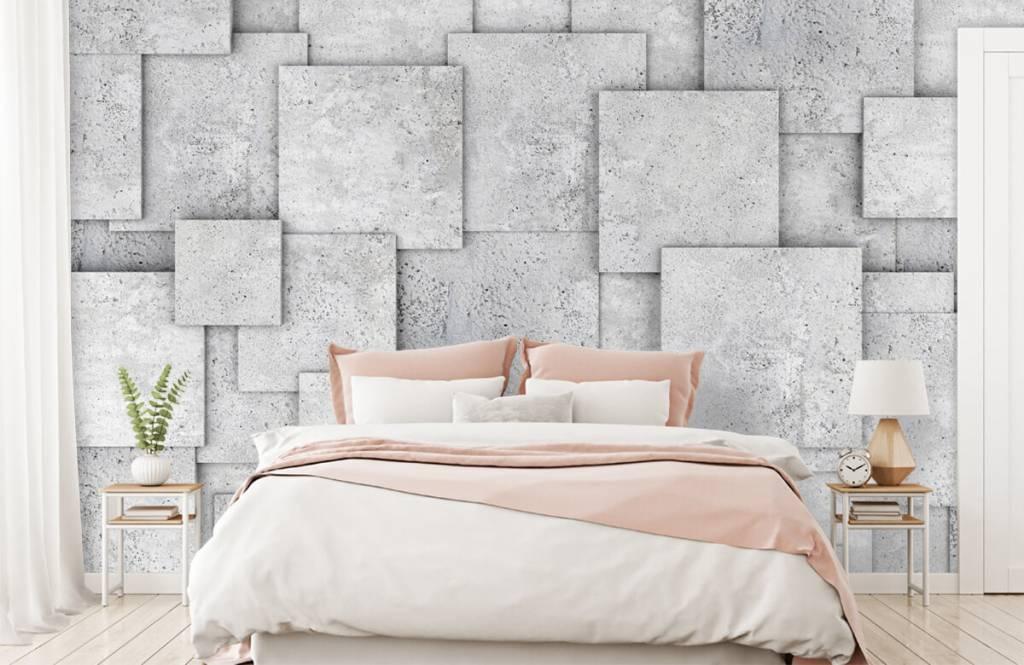 Other Textures & Surfaces - Carreaux carrés en 3D - Chambre à coucher 2