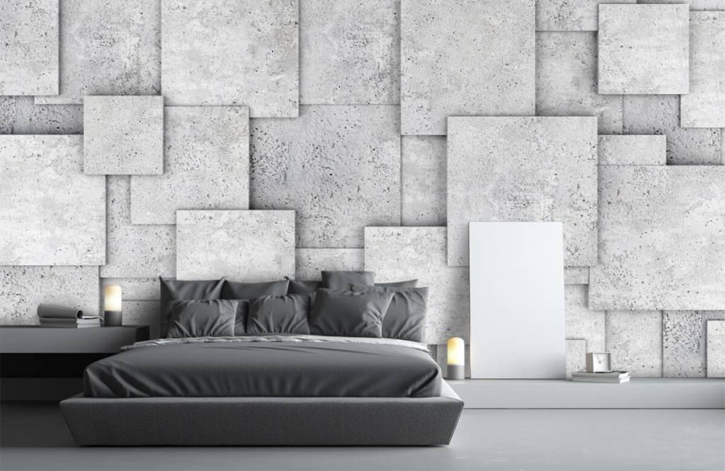 Other Textures & Surfaces - Carreaux carrés en 3D - Chambre à coucher 3