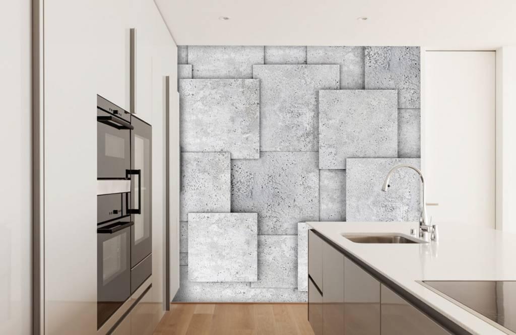Other Textures & Surfaces - Carreaux carrés en 3D - Chambre à coucher 4