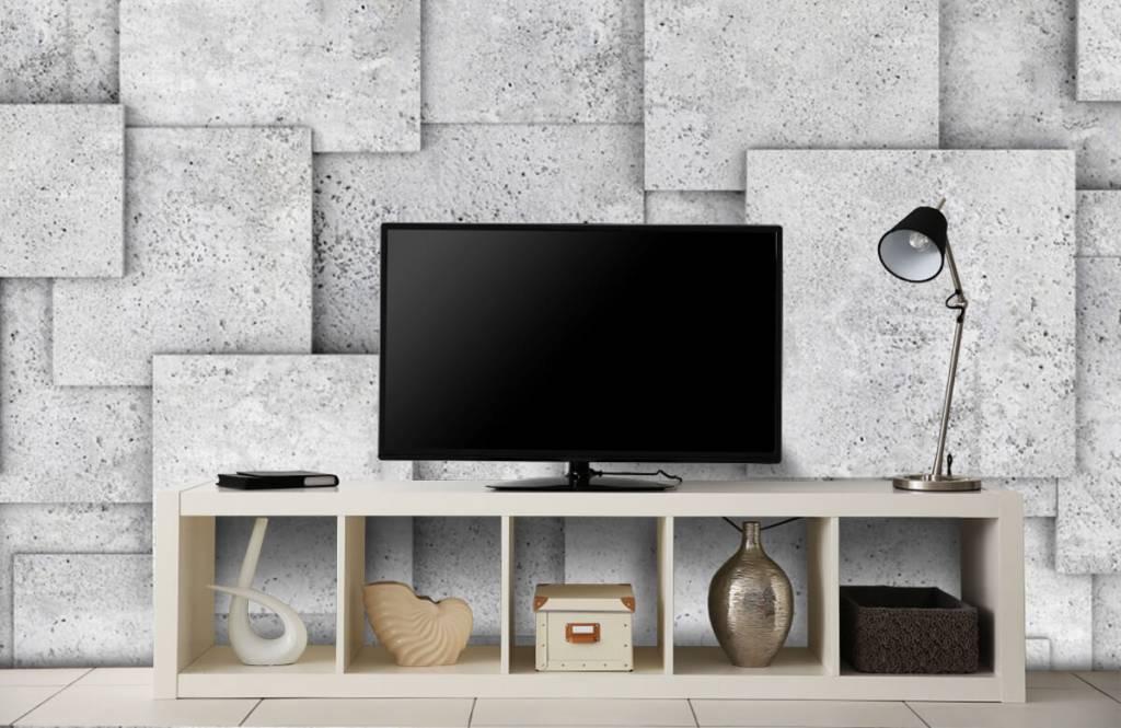 Other Textures & Surfaces - Carreaux carrés en 3D - Chambre à coucher 5