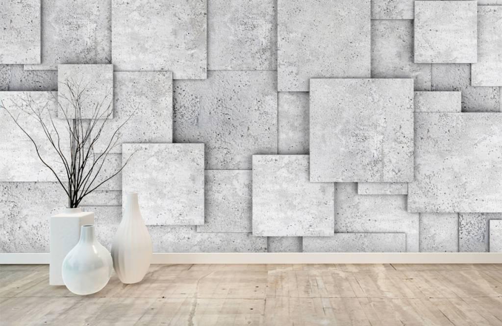 Other Textures & Surfaces - Carreaux carrés en 3D - Chambre à coucher 8