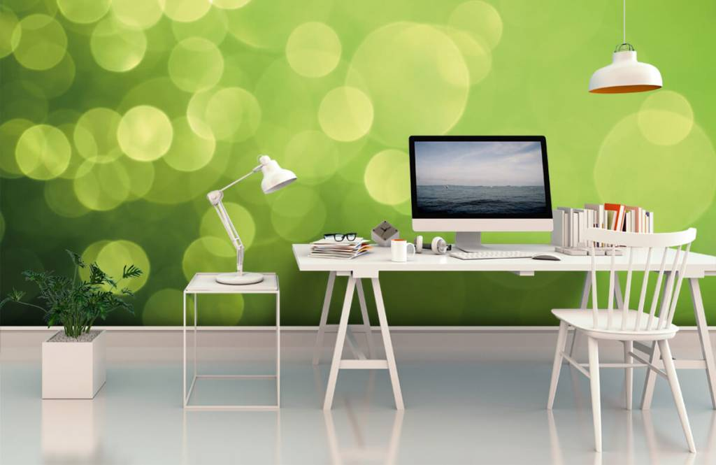 Fond d'écran abstrait - Cercle vert abstrait - Réception 1