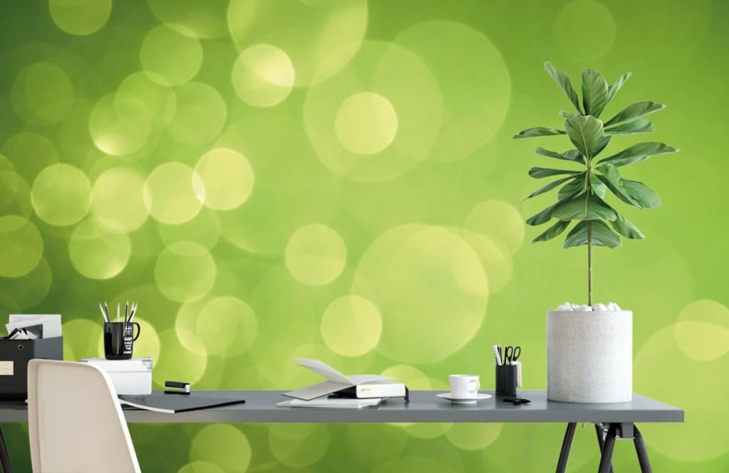 Fond d'écran abstrait - Cercle vert abstrait - Réception 2