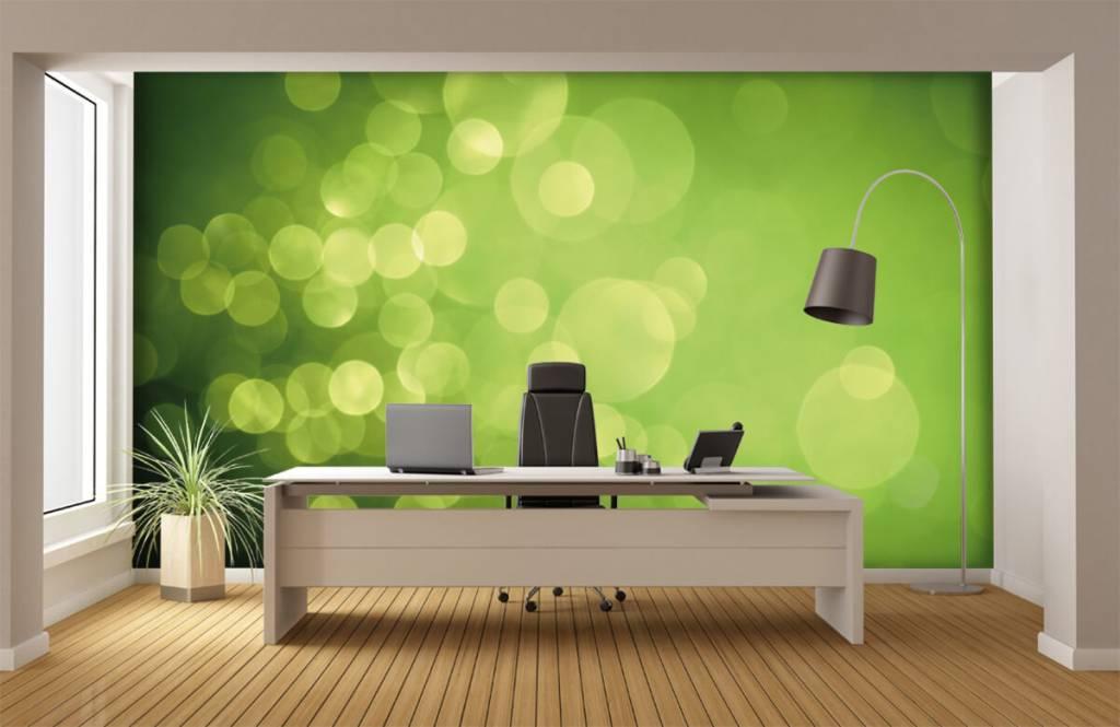 Fond d'écran abstrait - Cercle vert abstrait - Réception 3
