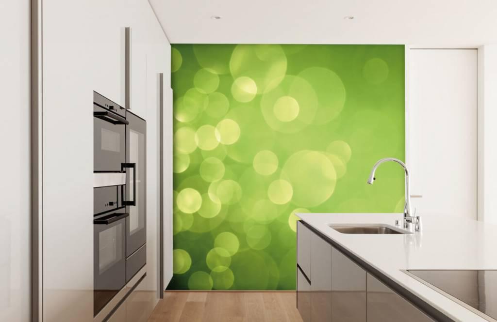 Fond d'écran abstrait - Cercle vert abstrait - Réception 4