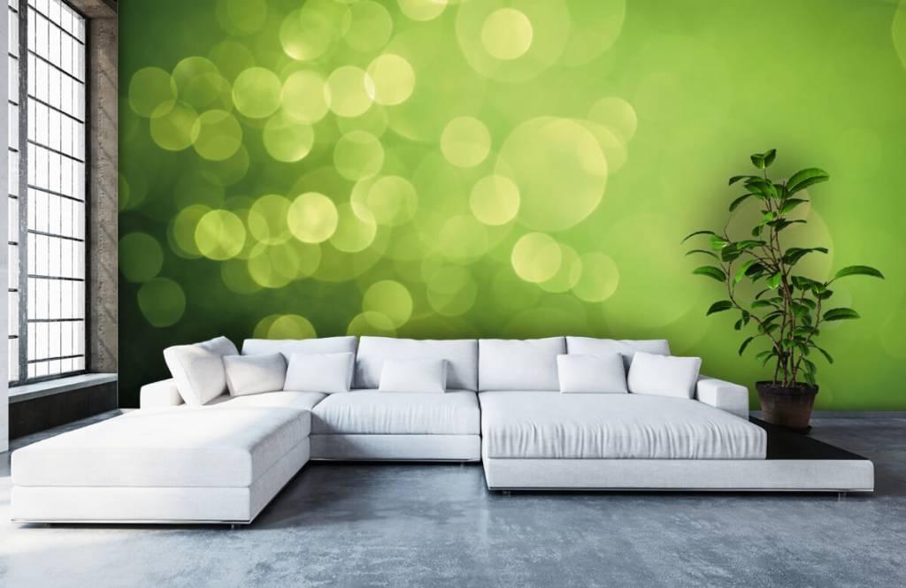 Fond d'écran abstrait - Cercle vert abstrait - Réception 5