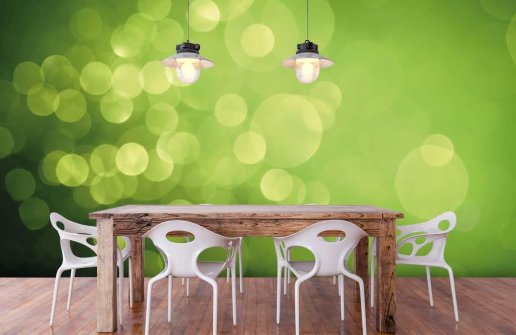 Fond d'écran abstrait - Cercle vert abstrait - Réception 6