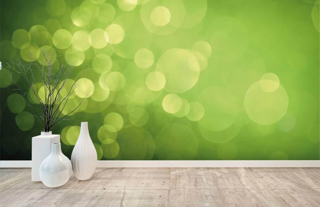 Fond d'écran abstrait - Cercle vert abstrait - Réception 7