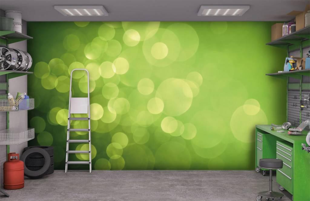 Fond d'écran abstrait - Cercle vert abstrait - Réception 9