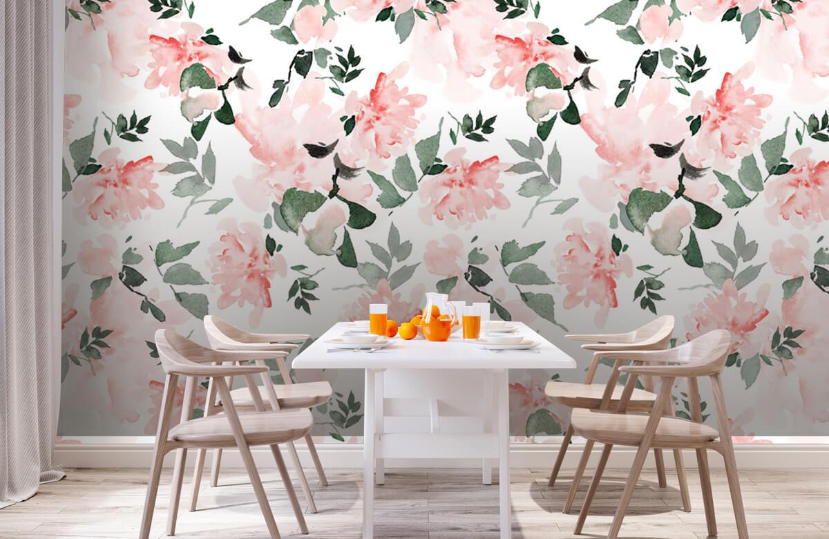 Patterns for Kidsroom - Aquarelle de fleurs - Chambre à coucher 2