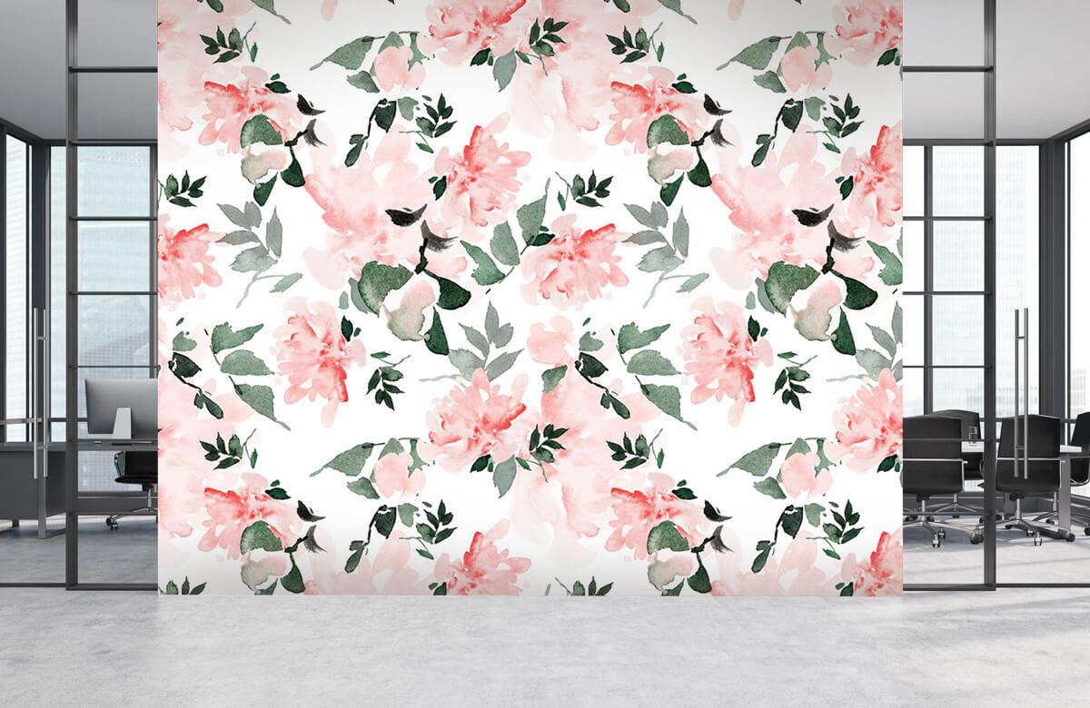 Patterns for Kidsroom - Aquarelle de fleurs - Chambre à coucher 4