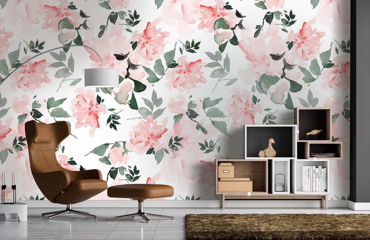 Patterns for Kidsroom - Aquarelle de fleurs - Chambre à coucher 5