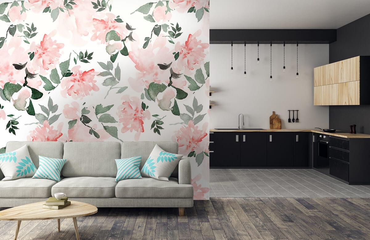 Patterns for Kidsroom - Aquarelle de fleurs - Chambre à coucher 6