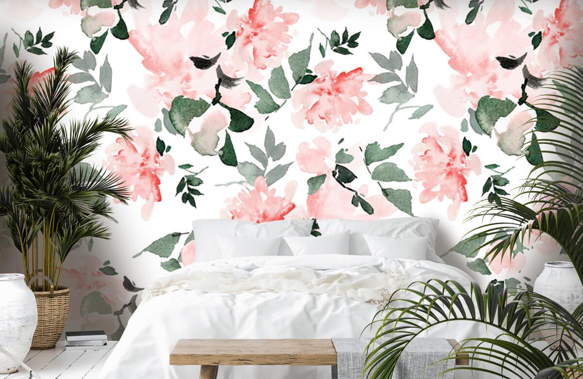 Patterns for Kidsroom - Aquarelle de fleurs - Chambre à coucher 7