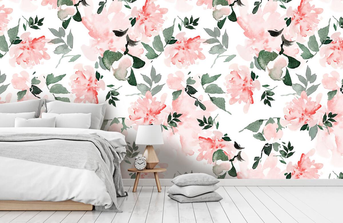 Patterns for Kidsroom - Aquarelle de fleurs - Chambre à coucher 1