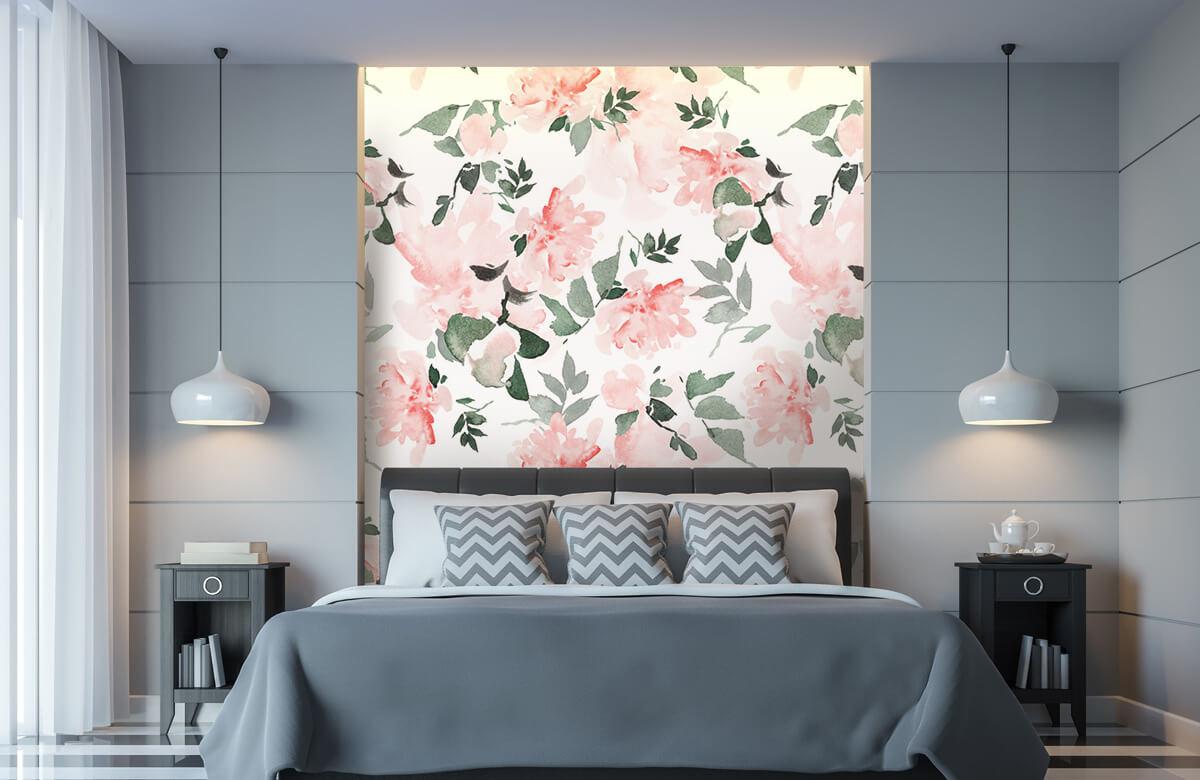 Patterns for Kidsroom - Aquarelle de fleurs - Chambre à coucher 8