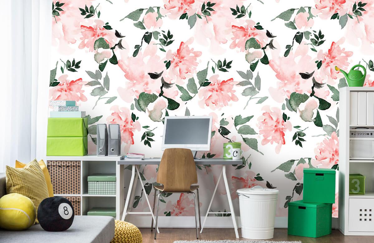 Patterns for Kidsroom - Aquarelle de fleurs - Chambre à coucher 9