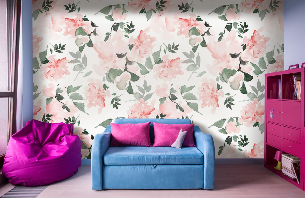 Patterns for Kidsroom - Aquarelle de fleurs - Chambre à coucher 10