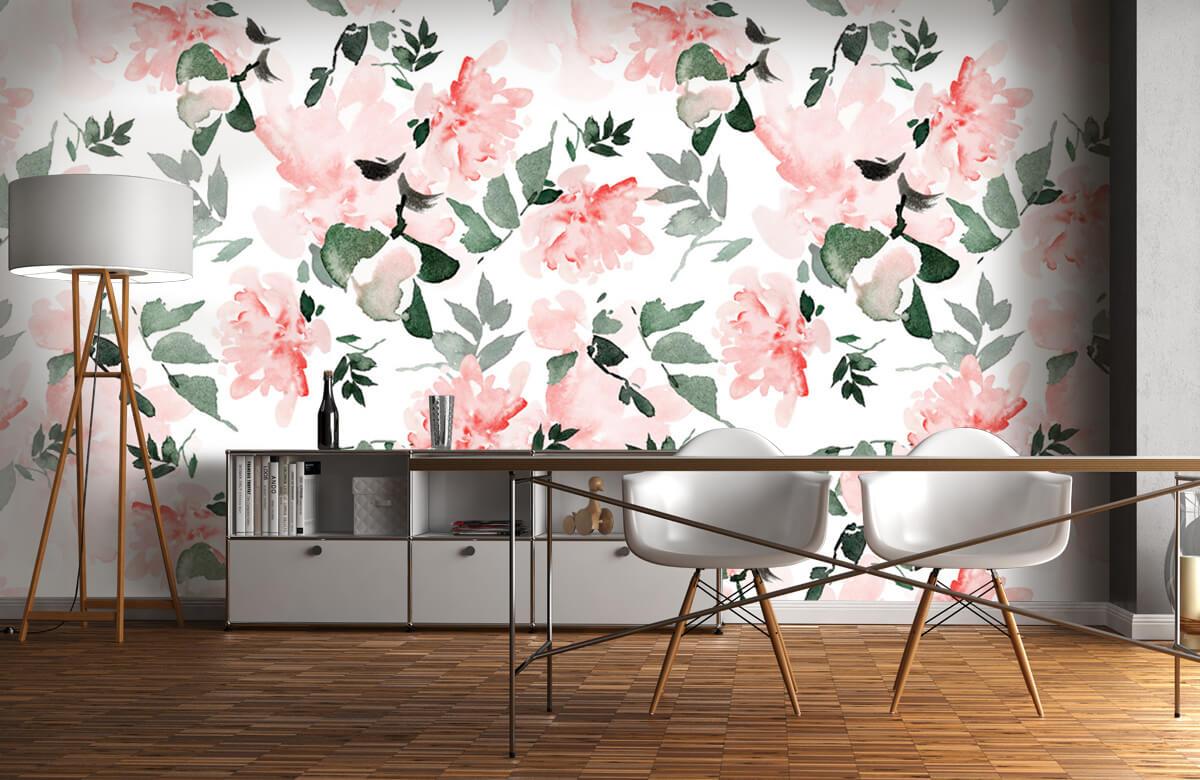 Patterns for Kidsroom - Aquarelle de fleurs - Chambre à coucher 11