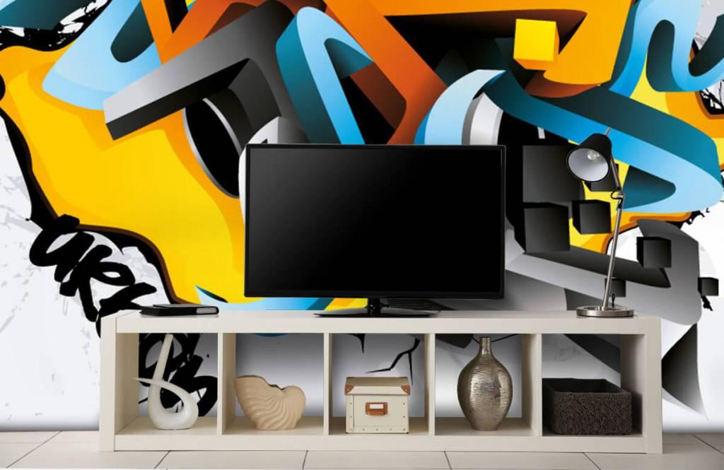 Graffiti - Graffitis 3D - Chambre d'adolescent 1