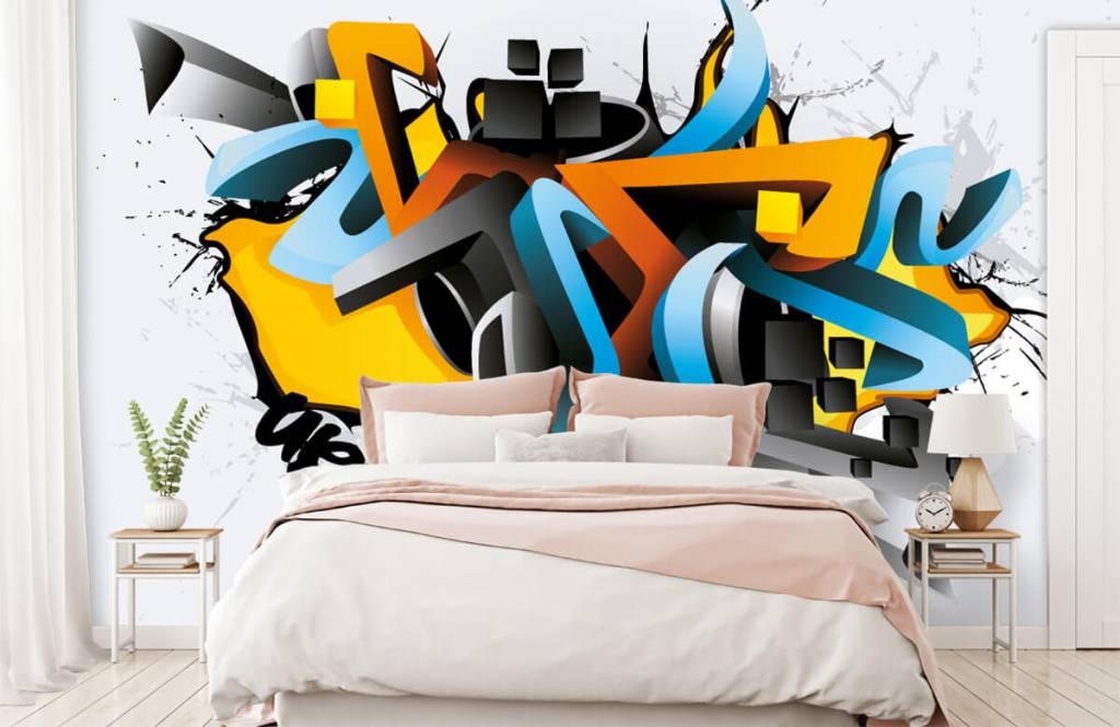 Graffiti - Graffitis 3D - Chambre d'adolescent 2