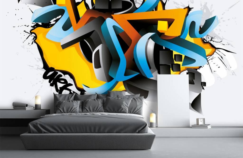 Graffiti - Graffitis 3D - Chambre d'adolescent 3