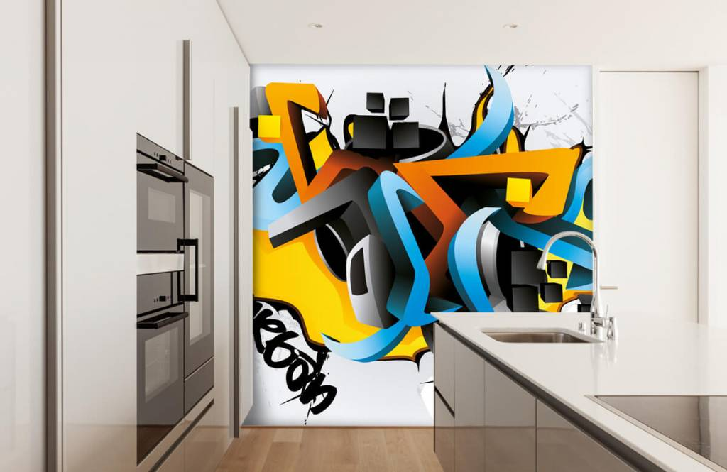 Graffiti - Graffitis 3D - Chambre d'adolescent 4