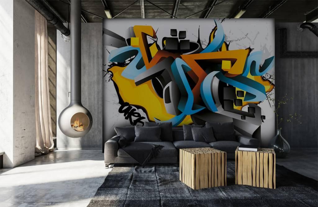 Graffiti - Graffitis 3D - Chambre d'adolescent 6