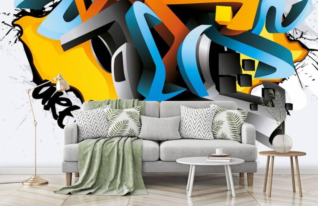 Graffiti - Graffitis 3D - Chambre d'adolescent 7