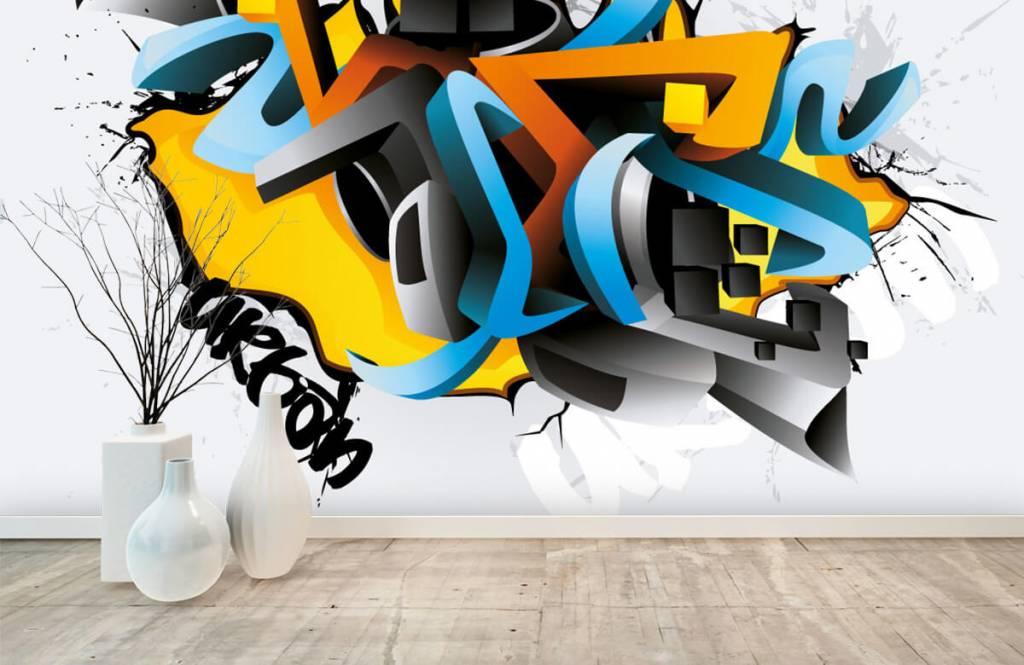 Graffiti - Graffitis 3D - Chambre d'adolescent 8