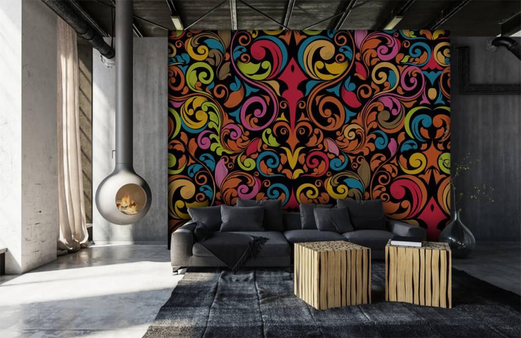 Fond d'écran abstrait - Figures abstraites colorées - Cuisine 2