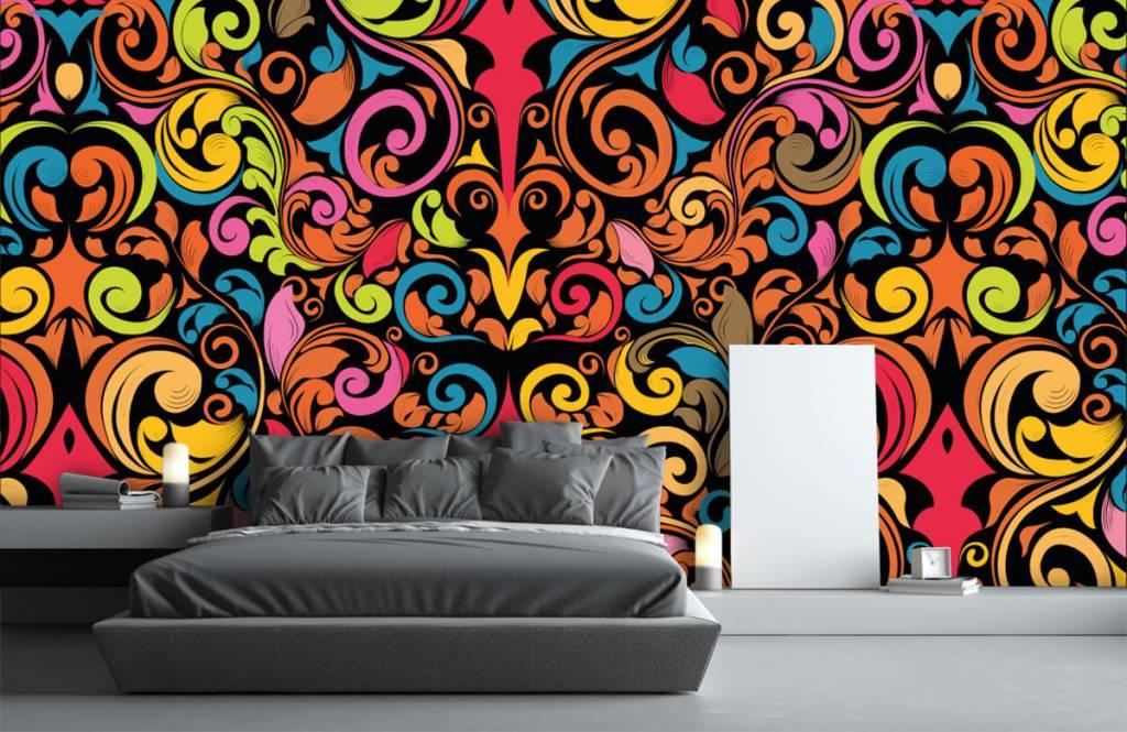 Fond d'écran abstrait - Figures abstraites colorées - Cuisine 3