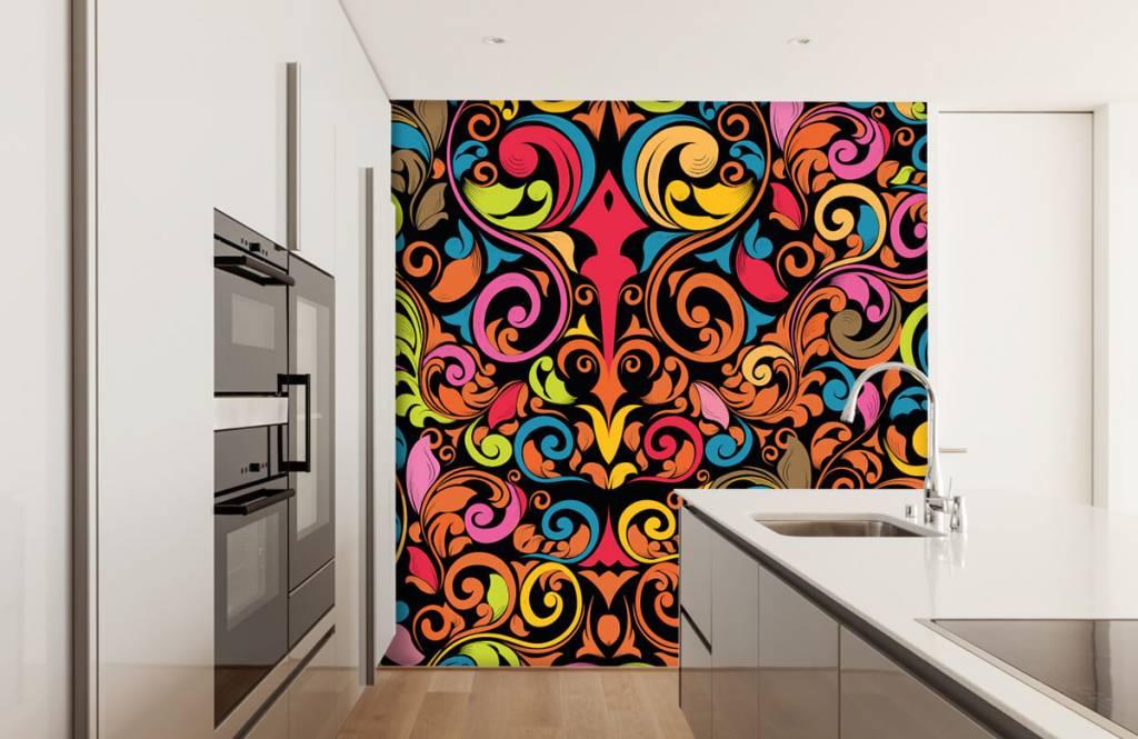 Fond d'écran abstrait - Figures abstraites colorées - Cuisine 4