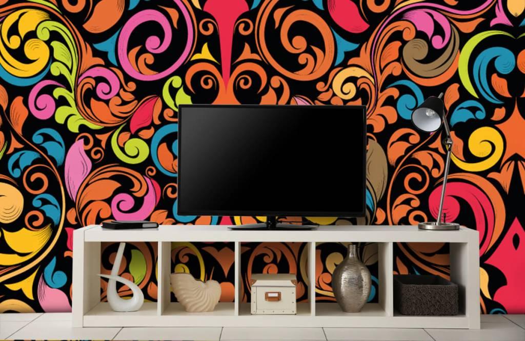 Fond d'écran abstrait - Figures abstraites colorées - Cuisine 5