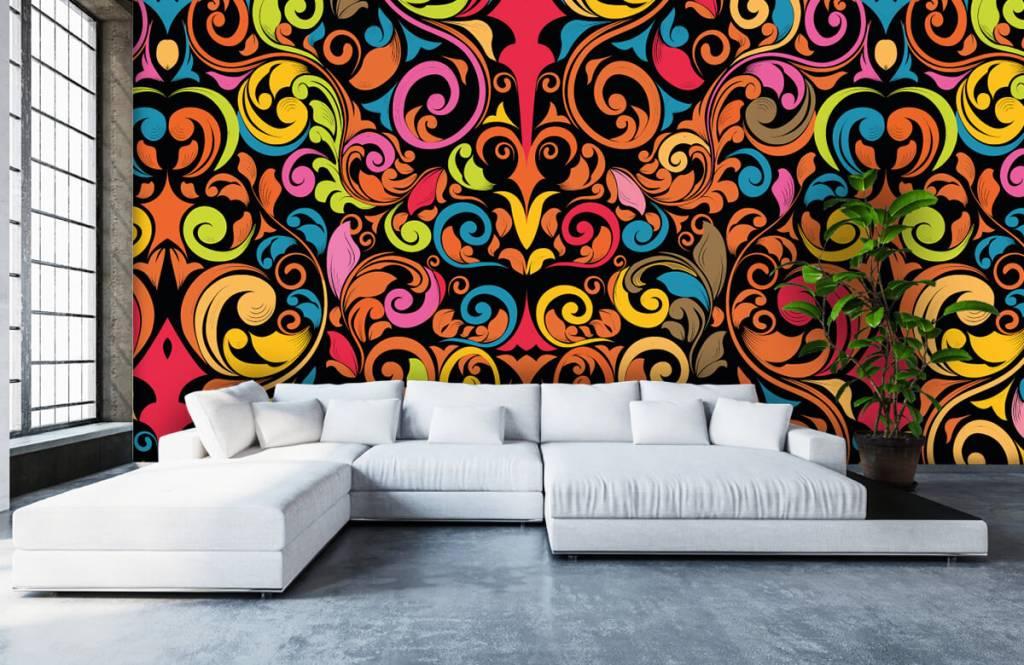 Fond d'écran abstrait - Figures abstraites colorées - Cuisine 6