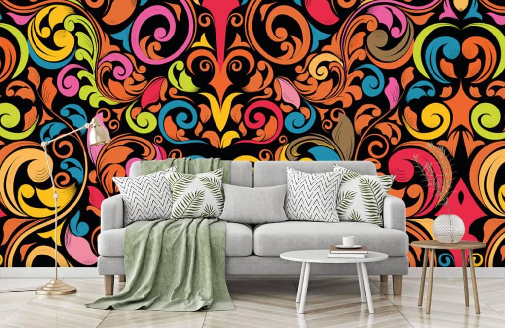 Fond d'écran abstrait - Figures abstraites colorées - Cuisine 7