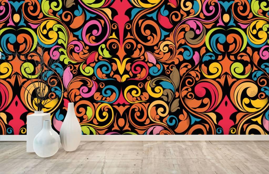 Fond d'écran abstrait - Figures abstraites colorées - Cuisine 8