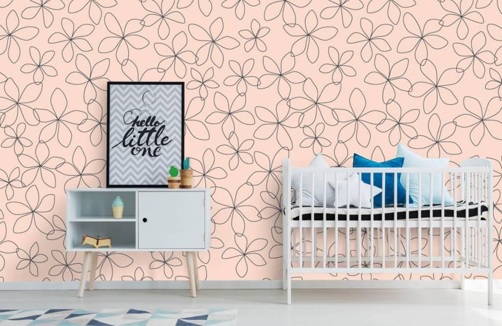 Patterns for Kidsroom - Fleurs bleues - Chambre des enfants 1