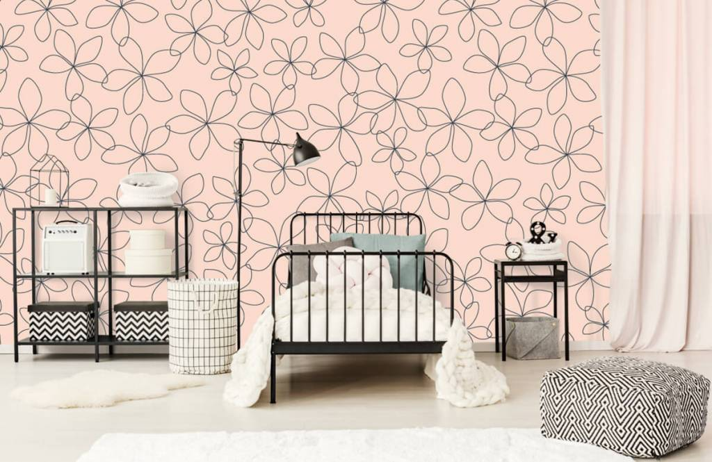 Patterns for Kidsroom - Fleurs bleues - Chambre des enfants 2