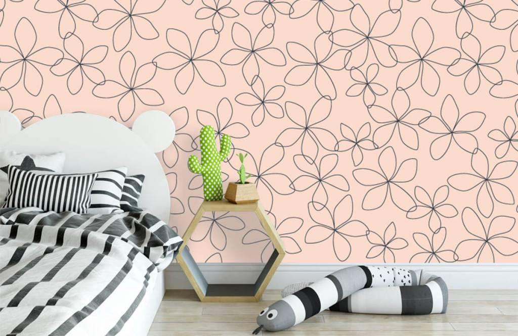 Patterns for Kidsroom - Fleurs bleues - Chambre des enfants 3