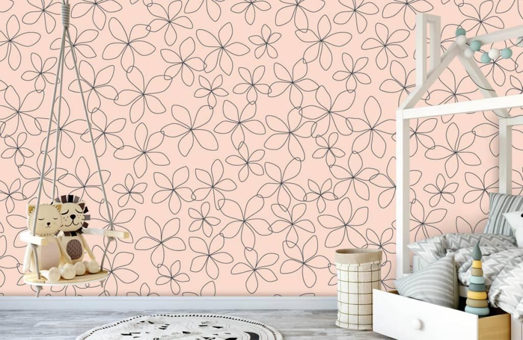 Patterns for Kidsroom - Fleurs bleues - Chambre des enfants 4