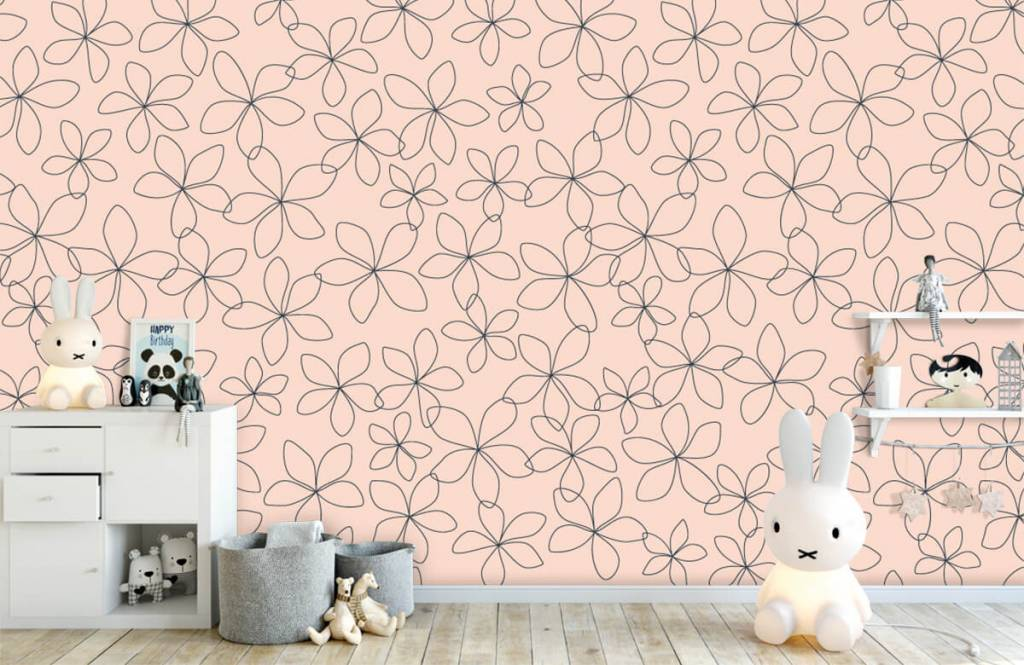 Patterns for Kidsroom - Fleurs bleues - Chambre des enfants 5
