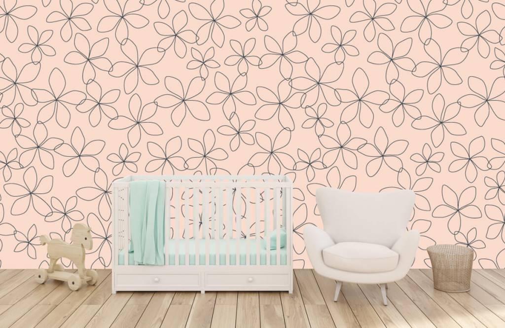 Patterns for Kidsroom - Fleurs bleues - Chambre des enfants 6