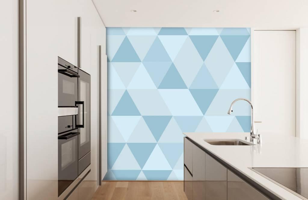 Other - Triangles bleus - Chambre des enfants 3