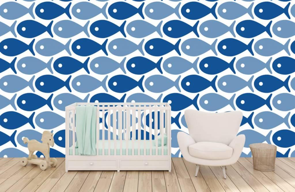 Aquatic Animals - Poisson bleu - Chambre des enfants 1