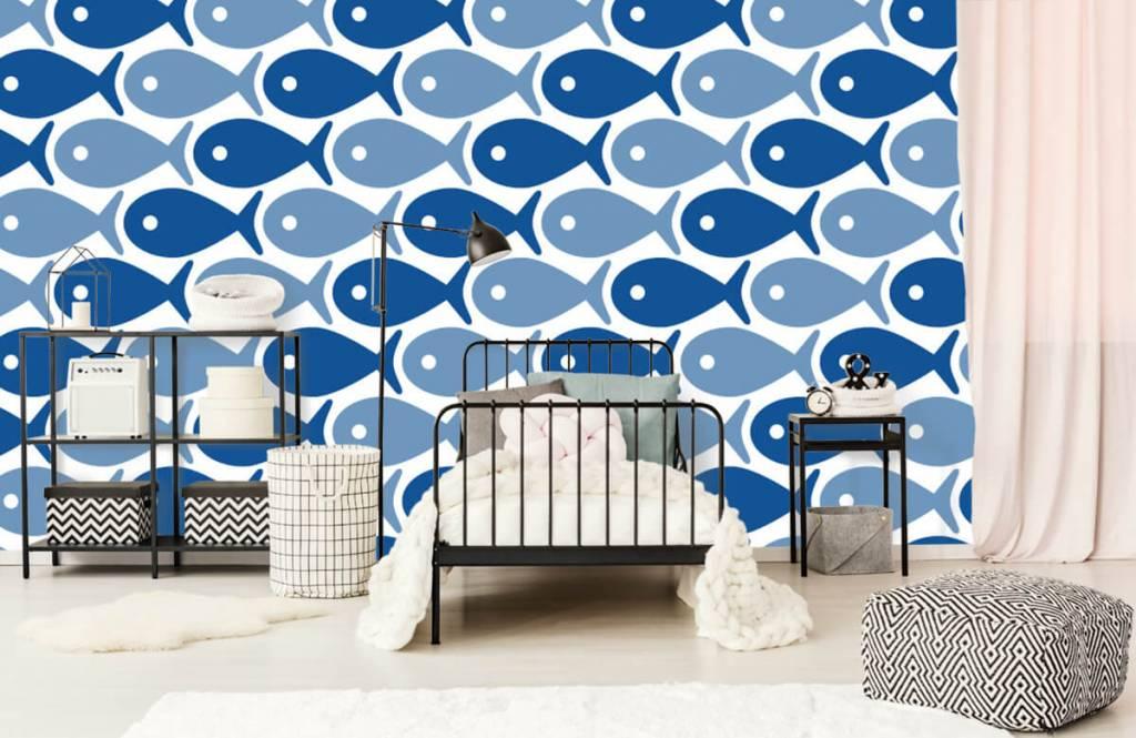 Aquatic Animals - Poisson bleu - Chambre des enfants 2