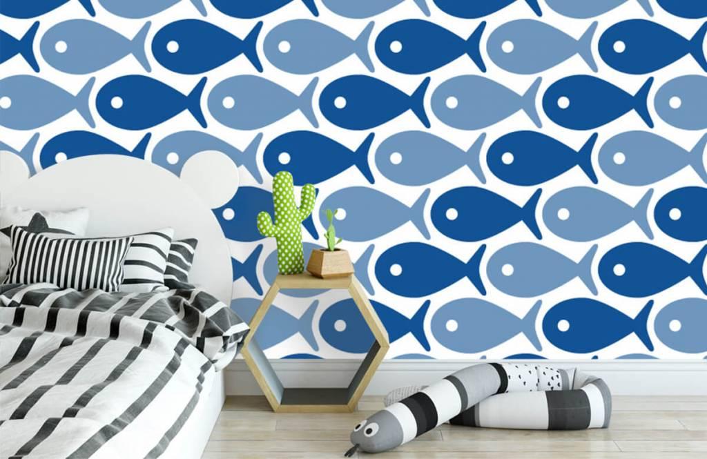 Aquatic Animals - Poisson bleu - Chambre des enfants 3