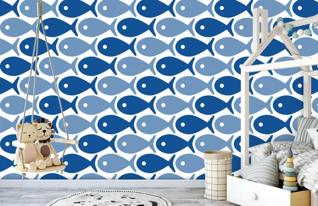 Aquatic Animals - Poisson bleu - Chambre des enfants 4